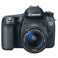 Canon EOS 70D 20.2 Megapixel Digital SLR Camera Kit with EF-S18-55mm Lens - Black