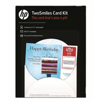 "HP TwoSmiles Card Kit 5x7"" 10-Pack"