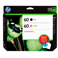 HP 60 Ink Cartridge Combo Pack