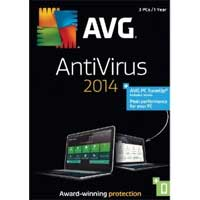 AVG 2014 Anti-Virus 1 Year 3 User