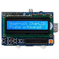 Adafruit Industries 16x2 LCD + Keypad Kit for Raspberry Pi - Blue/White