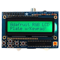 Adafruit Industries RGB Positive 16x2 LCD + Keypad Kit for Raspberry Pi