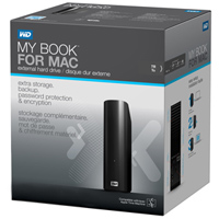 WD My Book 2TB SuperSpeed USB 3.0 Portable Hard Drive for Mac WDBYCC0020HBK