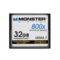 Monster Digital 32GB 800X CompactFlash High Speed Memory CFA-0032-808