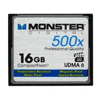Monster Digital 16GB 500X CompactFlash High Speed Memory Card CFA-0016-605