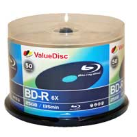 ValueDisc BD-R 6x 25GB 50 Pack