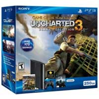 Sony PlayStation 3 250GB System Uncharted 3 with 1 Year PlayStation Network Subscription Bundle