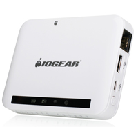 IOGear GWFRSDU MediaShair Wireless Media Hub w/SD/USB Input & Built-in Power Station