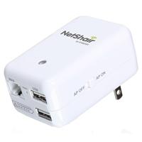 IOGear GWRH1 NetShair Link Portable Wi-Fi Router & USB Media Hub