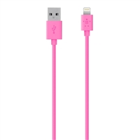 Belkin MIXIT Up Lightning ChargeSync Cable 4 ft - Pink