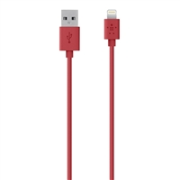 Belkin MIXIT Up Lightning ChargeSync Cable 4 ft - Red