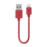Belkin MIXIT Up Lightning ChargeSync Cable 6IN - Red