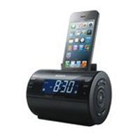 Sony Alarm Clock AM/FM Radio iPod/iPhone Dock - Black