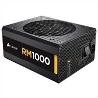 Corsair RM Series 1000 Watt With Flat Black Cables and Zero RPM Fan Mode ATX Modular Power Supply
