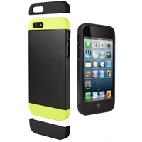 Cygnett Alternate Case for iPhone 5s - Black/Lime
