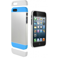 Cygnett Alternate Case for iPhone 5/5s - Silver/Blue