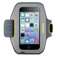 Belkin Sport-Fit Armband for iPhone 5/5s/5c - Gray/Orange