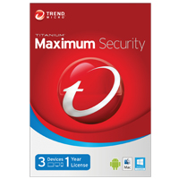 Trend Micro Titanium Maximum Security 3 User 1 Year (PC/Mac)