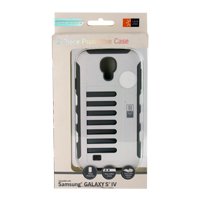 Bytech Hand Grip Case for Samsung Galaxy S 4 - White/Gray