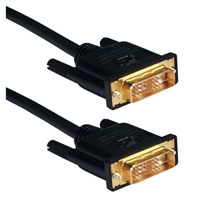QVS 8 Meter High Performance DVI Male HDTV/Digital Flat Panel Gold Cable
