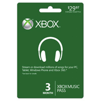 InComm XBOX Music 3 Month Pass