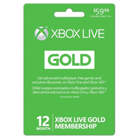 InComm XBOX Live 12 Month Gold Membership Card