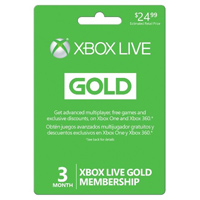 InComm XBOX Live 3 Month Gold Membership Card