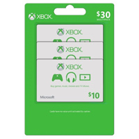 InComm XBOX Live $10 Card 3-Pack