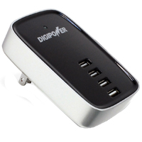Digipower 4 Port USB (2.1A) Travel Charger