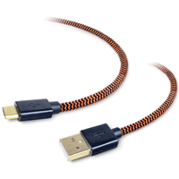 Tough Tested 6' Durable Micro USB Cable - Orange/Black