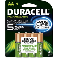 Duracell 4-Pack AA 2400mAh NiMH Pre-charged Rechargeable Battery