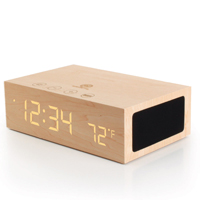 Accessory Power GOgroove BlueSYNC TYM Bluetooth Wireless Stereo Speaker System and Wood Alarm Clock