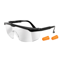 Performance Tools Safety Glasses & Earplug Combo