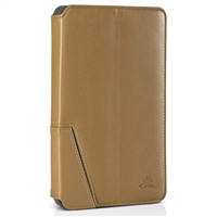 Chil Inc Notchbook Executive Leather Folio for Samsung Galaxy Tablet 3 7.0 - Tan