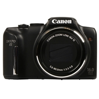 Canon PowerShot SX170 IS 16 Megapixel Digital Camera - Black