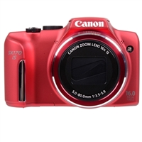 Canon PowerShot SX170 IS 16 Megapixel Digital Camera - Red