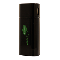 Concept Green Portable Charger with 6600mAh Battery with Dual USB outputs - Black