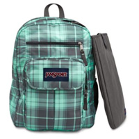 "Jansport Digital Student Backpack fits Screens up 15"" - Gray/Green"
