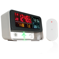Accessory Power Enhance Weather Forecast Station & Digital Alarm Clock