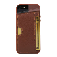 CM4 Q Card Case for iPhone 5/5s - Brown