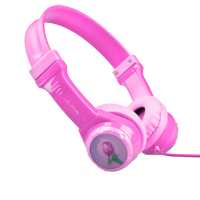 Mach Speed Technologies JBuddies Kids Volume Limiting On-Ear Headphones - Pink