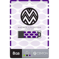 Centon Ivy Violet 8GB USB 2.0 Flash Drive DSPTM8GB-IVY