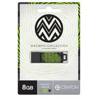 Centon Macbeth 8GB USB 2.0 Flash Drive DSPTM8GB-BG