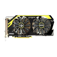 MSI N760 HAWK NVIDIA GeForce GTX 760 2048MB GDDR5 PCIe 3.0 x16 Video Card