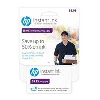 HP Instant Ink 300-page Plan 1st Month Enrollment Kit