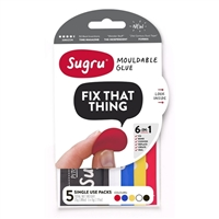 Sugru 5-Mini Packs Muli-Color 0.17 oz.