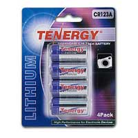 TenErgy Propel Lithium CR123A Battery 4 Pack