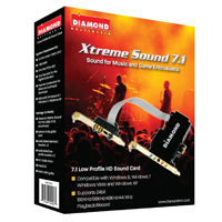 Diamond Xtreme Sound 7.1 PCIE 24-bit Low Profile Sound Card
