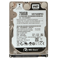 "WD Black Mobile  750GB 2.5"" 7200 rpm SATA 6Gbit Mobile Hard Drive"
