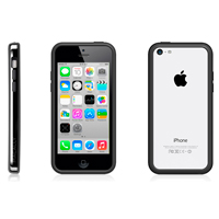 MacAlly Protective Frame Case for iPhone 5c - Black/Gray